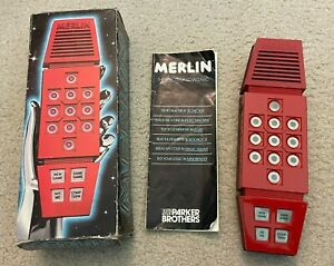Vintage Parker Bros 1978 Merlin The Electronic Wizard Game w Box & Manual Works