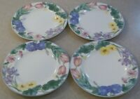 SET OF 4   MIKASA  SPRING LEGACY  CAR19    SALAD / DESSERT PLATES   7 3/4 inches
