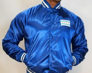 MEN'S SHINY SATIN CHICAGO SNAP JACKET Size Adult Small