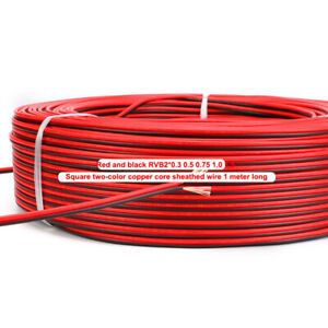 1 meter Red and black wire RVB2*0.3 0.5 0.75 1.0 1.5 Two-color copper core