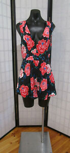 Q4  Kookai  Sz 38  Silk  Playsuit  Floral  As new condition Womens