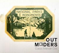 RARE Vtg Auto Car Sticker Pass National Parks & Monuments Petrified Forest AZ