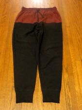 Men's BDG Urban Outfitters UO Black Maroon Striped Jogger Sweatpants sz S