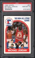 1989 Hoops #21 MICHAEL JORDAN All-Star HOF PSA 10 GEM MINT