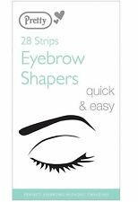 PRETTY SMOOTH EYEBROW SHAPERS HAIR EASILY REMOVED QUICK & EASY - 28 WAX STRIP