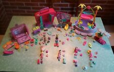gros lot polly pocket fashion:7 polly-7 bêtes-piscine-2 bâtiments etc...