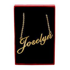 Collar de nombre de Joselyn-Tono Oro-Zirconia Cúbico-día de las Madres Cumpleaños