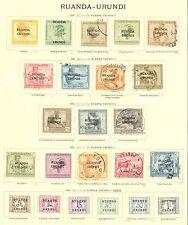 BELGIUM COLONY RUANDA URUNDI 1924/1928   47  ST.   MOST */0   MOST VF