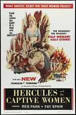 Hercules And Captive Women Poster 01 Metal Sign A4 12x8 Aluminium