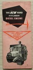 FORD 4 CYLINDER DIESEL ENGINE THAMES 2/3 TON TRUCKS & VANS Sales Brochure 1954