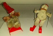 Vintage Papier - Mache German ( Putz ) Snowman & Eskimo