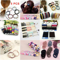 100Pcs Colorful Elastic Hair Ties Knot Rubber Hairband No Crease Ponytail Holder