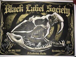 *HAND SIGNED* Black Label Society Zakk Wylde FLORIDA poster - RARE!! 87/100