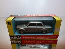 SOLIDO 28 BMW 2002 TURBO - SILVER METALLIC 1:43 - VERY GOOD CONDITION IN BOX