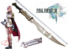FINAL FANTASY FF13 Weapon Lightning Gunblade steel Sword Flamberge Cosplay Prop