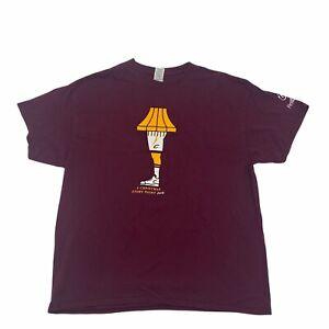 Cleveland Cavaliers A Christmas Story Leg Lamp T-Shirt XL 12/12/18 SGA Cavs Red