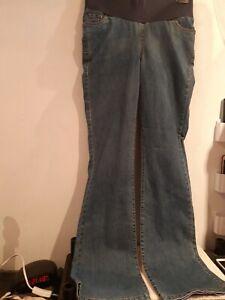 Arabella. Blue Elastic Waistband Jeans (Maternity?). Size XS (8-10?)