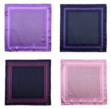 BRIONI Purple Pink Hand-Rolled 100% Silk Pocket Square Handkerchief Lot of 4