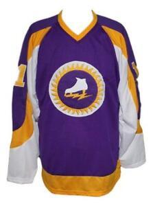 Any Name Number New York Golden Blades Retro Custom Hockey Jersey Purple