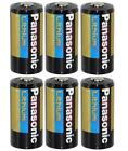 6 Panasonic 3V Lithium CR123A Batteries for Camera, Flashlight etc
