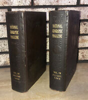 1940 THE NATIONAL GEOGRAPHIC MAGAZINE BOUND LIBRARY with MAPS Volumes 77 & 78