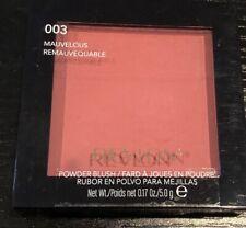 Revlon Powder Blush 003 MAUVELOUS REMAUVEQUABLE Satin New Sealed