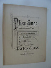 1892 Autumn Song Mezzo Soprano / Baritone in D by Clayton Johns, Duncan C Scott