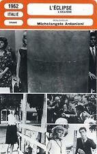 CARTE FICHE CINEMA 1962 L'ECLIPSE VITTI ALAIN DELON