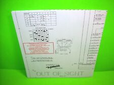 Gottlieb OUT OF SIGHT Pinball Machine Schematic Wiring Diagram Official Reprint