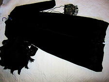 1900s Victorian Edwardian driving touring black COAT/hat COSTUME 8 velvet