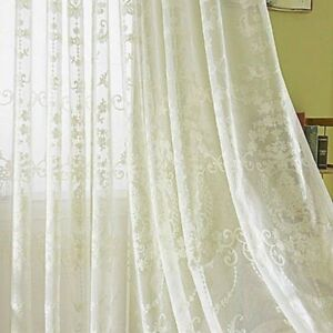 Embroidery Curtain Fabric Crochet Net Lace Tulle Voile Panel Drape Divider