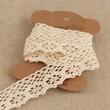 Women Embroidered Craft Lace Trims Beige Ribbon DIY Sewing Accessories 10 Yards