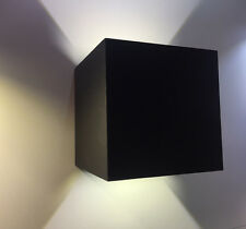 6W Black Finish Square Up & Down Exterior Interior Outdoor Indoor LED Wall Light