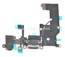 For iPhone 5 Black Charging Port - Replacement Charger Flex Cable USB Dock Mic