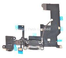 Para iPhone 5 Negro Puerto De Carga-Cargador de recambio Flex Cable USB Dock Micrófono