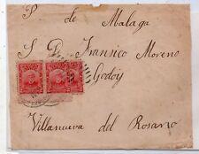 Argentina Frontal circulado a Villanueva del Rosario Malaga año 1910 (DU-991)