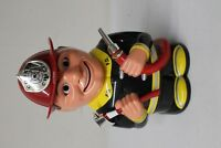 Talking Fire Chief Cookie Jar Mouth & Eyes Move (EMH13) Fireman 2002 Serviceman