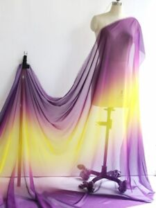1 Yard Thin 30D Ombre Chiffon Fabric Dancing Scarf Hanfu Gauze Material Gradient