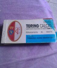 Abbonamento Torino calcio 1991/92 tribuna nord MARATONA