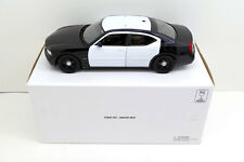 1/18 Dodge Charger Pursuit Unmarked Police Black & White - HARD TO FIND  - Welly