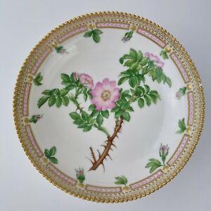 Vintage Royal Copenhagen Flora Danica Bowl Rosa Rubiginosa Flower Decoration.