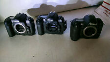 LOT OF 3 Nikon D100 6.1 MP Digital SLR Camera - Body Only - FOR PARTS NOT REPAIR