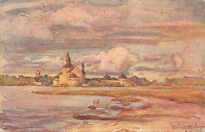 B95103 prins eugen sweden svenska roda korset painting postcard