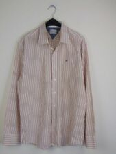 "TOMMY HILFIGER Denim Mens Striped Casual Shirt Chest 42"" Size XL Long Sleeve"