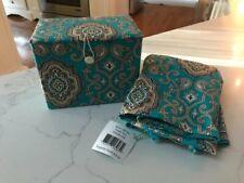 New ListingNew~Vera Bradley~Apron~Recipe Box~Gift Set~Totally Turquoise!