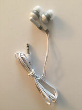 Lot of 100 Disposable White/Gray 3.5mm Earbuds Earphones Cell Phones/MP3