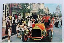 Walt Disney World Main Street USA Mickey Mouse Fire Engine Postcard Old Vintage