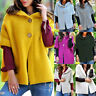 Womens Knit Open Front Sweaters Button Down Hooded Warm Cardigan Coats NEW
