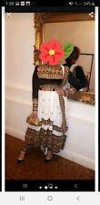 Traditional Afghani Dress Clothes,  black and white velvet top kuchi long back