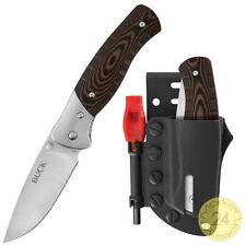 Big BUCK Pocket cuchillos Kydex correa funda la supervivencia fuego cuchillos de arranque